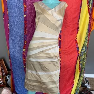 JAX Formal gold silver cocktail dress holiday 12